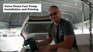 volvo penta fuel pump installation and priming youtube