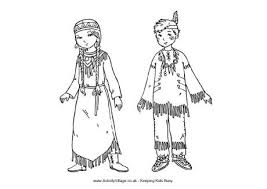 Indian Thanksgiving Native American Indian Children Coloring Sheet For Thanksgiving