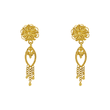hanging earrings gold hanging earrings andaaz jewelers