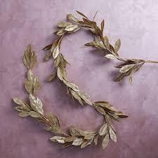 kraft glitter garland leaf west elm