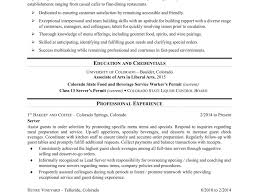 server resume template outstanding server resume template sle templates information