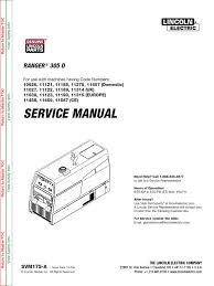 svm175 ranger 305d service manual electromagnetic
