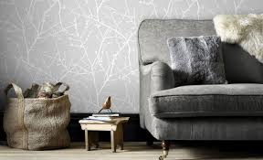 Decorating With Wallpaper by Using Grey In The Home