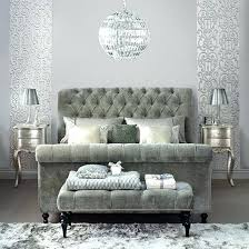 Grey Sleigh Bed Grey Sleigh Bed King Crushed Velvet Sleigh Bed King Size Torobtc Co