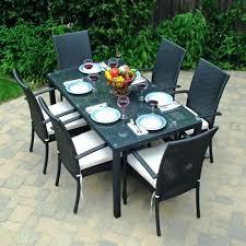 Round Patio Furniture Set by Black Glass Patio Table U2013 Smashingplates Us
