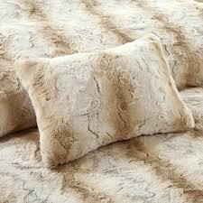 Faux Fur Throw Pillow Madison Park Zuri Faux Fur Duvet Cover Set Ebay