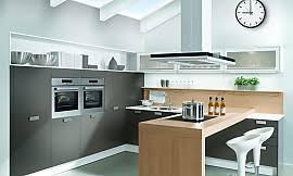 dachgeschoss k che moderne u form küche