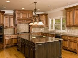 marble countertops cherry wood kitchen island lighting flooring