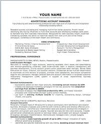 account manager resumes advertising manager resumes marketing advertising resumes