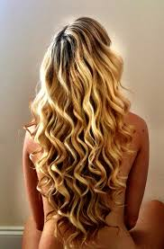 my hair today i love my highlighted blonde long v cut curls the