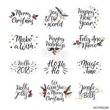 happy new year card set of merry christmas and happy new year cards modern