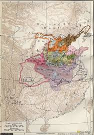 Yuan Dynasty Map Warring States Period Map Ancient China Map
