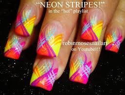 newbie simple nail art tutorials nail art tutorial diy neon nail stripes design tutorials