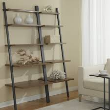 Ikea Narrow Bookcase by Decorating Furniture Leaning Bookcase Ladder Shelf Ikea