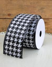 Houndstooth Home Decor by U0026 White Houndstooth Velveteen Wired Ribbon