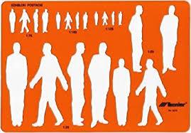 metric male human figure shape drawing drafting template stencil 1