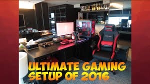 ultimate gaming setup of 2016 black red youtube