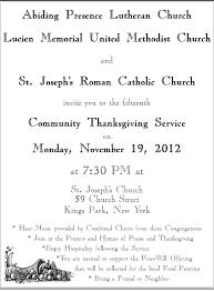 catholic thanksgiving prayer you are warmly invited u2013 community thanksgiving service