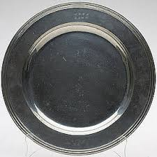 pewter serving platter pewter serving platter with molded edge marked for sale