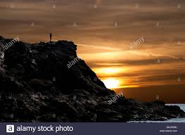 Sunrise Sunset Map Man Walking Along A Cliff Top At Porth Dafarch Anglesey Consults