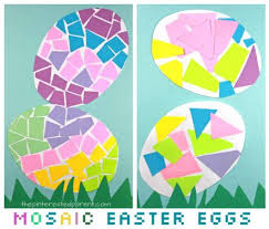paper easter eggs paper mosaic easter eggs the pinterested parent