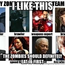 Zombie Team Meme - my zombie apocalypse team meme generator