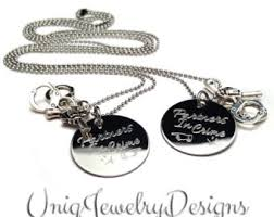 His And Hers Dog Tags Personalized Couples Mini Dog Tag Her King His Queen
