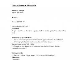Resume Sample Painter by Dance Resume Template Cv Resume Ideas
