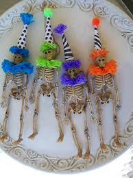 Skeleton Halloween Crafts Custom Color Skeleton Halloween Ornament 6 00 Via Etsy