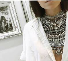 white shirt necklace images Jewels kylie jenner jewelry boho jewelry necklace silver jpg