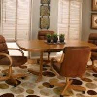 Dining Room Chairs With Arms And Casters Swivel Dining Room Chairs With Casters Justsingit Com