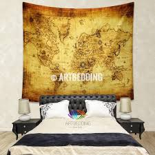 Old World Map Wallpaper by Ancient World Map Wall Tapestry Vintage World Map Wall Hanging