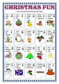 23 free esl christmas fun worksheets