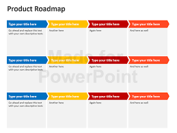 product roadmap template powerpoint free free editable agile