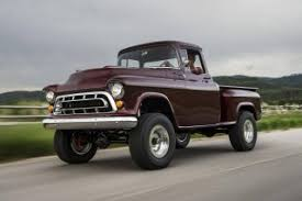 chevy truck with corvette engine this 1957 chevy napco truck has been restored with a 430 hp