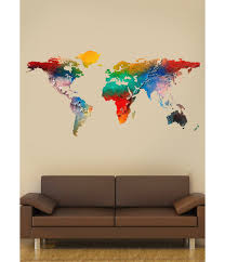 wall art design ideas world map printing furniture color splash world map printing furniture color splash wall art hand painting beautiful continents compose decals waterproof