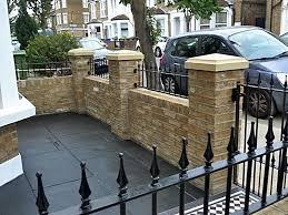 Front Garden Walls Ideas Marvelous Front Garden Brick Wall Designs Painting For Interior