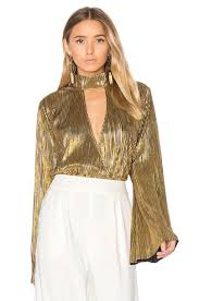 metallic gold blouse house of harlow 1960 x revolve blouse in gold metallic