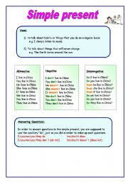english teaching worksheets present simple songs
