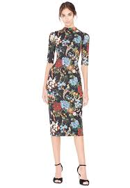 fitted mock neck dress alice olivia