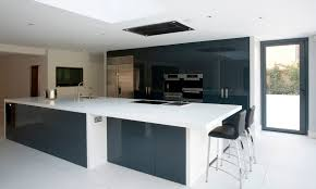 contemporary kitchen wooden island lacquered dulwich