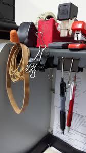17 diy office hacks to make work more tolerable binder clips