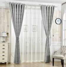 plaid patterned jacquard linen cotton blend contemporary curtains