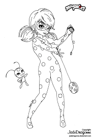 print miraculous ladybug by stella1999 coloring pages miraculos