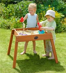 sand and water table with lid wooden sand water table for children magic cabin