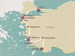 map of the road make an escape to paradise on this turkish delight