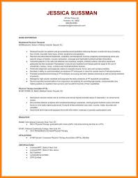 9 physical therapy resume sles precis format