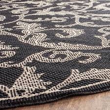 Black Round Rug Safavieh Courtyard Gillian 5 U00273