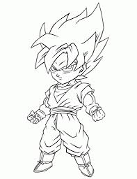 amazing and also interesting dragon ball z coloring page regarding