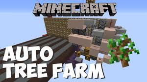cheapest automatic tree farm 1 8 1 9 1 10 minecraft tutorial